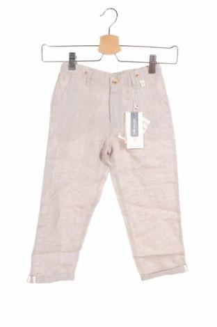 Детски панталон Tutto Piccolo, Размер 4-5y/ 110-116 см, Цвят Бежов, Лен, Цена 19,47лв.