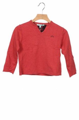 Детски пуловер Nanos, Размер 2-3y/ 98-104 см, Цвят Червен, 80% памук, 20% вълна, Цена 37,62лв.