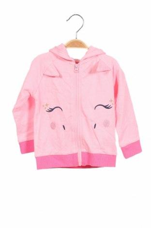 Детски суичър Crafted, Размер 12-18m/ 80-86 см, Цвят Розов, Памук, Цена 31,85лв.