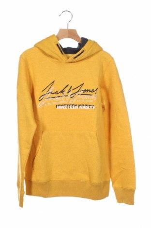 Детски суичър Jack & Jones, Размер 11-12y/ 152-158 см, Цвят Жълт, 60% памук, 40% полиестер, Цена 44,25лв.