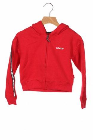 Детски суичър Levi's, Размер 5-6y/ 116-122 см, Цвят Червен, 60% памук, 40% полиестер, Цена 66,75лв.