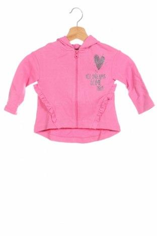Детски суичър United Colors Of Benetton, Размер 18-24m/ 86-98 см, Цвят Розов, 100% памук, Цена 29,50лв.