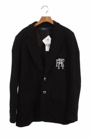 Детско сако Ralph Lauren, Размер 12-13y/ 158-164 см, Цвят Черен, 55% памук, 45% вискоза, Цена 87,72лв.