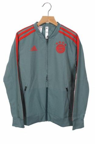 Детско спортно яке Adidas, Размер 9-10y/ 140-146 см, Цвят Сив, Полиестер, Цена 77,35лв.