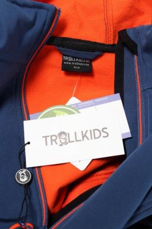 Детско спортно яке Trollkids, Размер 6-7y/ 122-128 см, Цвят Син, 94% полиестер, 6% еластан, Цена 60,52лв.