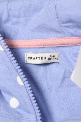 Детско яке Crafted, Размер 3-6m/ 62-68 см, Цвят Син, Памук, Цена 25,20лв.