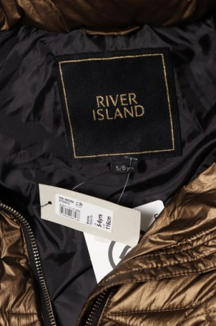 Детско яке River Island, Размер 5-6y/ 116-122 см, Цвят Златист, Полиамид, Цена 88,32лв.