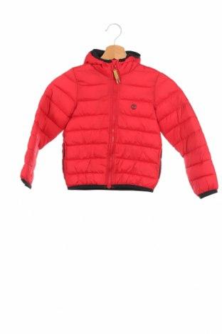 Детско яке Timberland, Размер 4-5y/ 110-116 см, Цвят Червен, Полиамид, Цена 108,12лв.