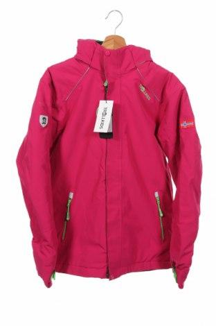 Dziecięca zimowa kurtka sportowa Trollkids, Rozmiar 15-18y/ 170-176 cm, Kolor Różowy, Poliester, Cena 322,50zł