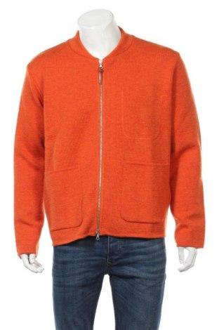 Ανδρική ζακέτα Albam, Μέγεθος L, Χρώμα Πορτοκαλί, 100% μαλλί, Τιμή 51,03€