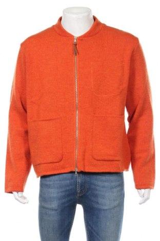 Ανδρική ζακέτα Albam, Μέγεθος XL, Χρώμα Πορτοκαλί, Μαλλί, Τιμή 51,03€