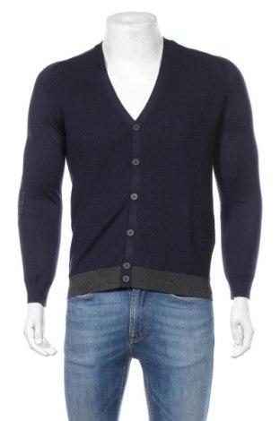 Мъжка жилетка Antony Morato, Размер S, Цвят Син, 50% акрил, 50% вълна, Цена 119,00лв.