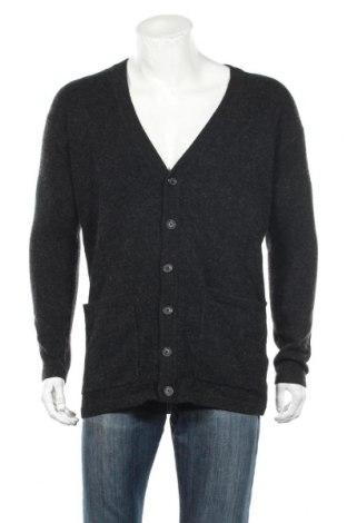 Ανδρική ζακέτα DKNY, Μέγεθος XS, Χρώμα Μαύρο, 66% μαλλί, 22% βαμβάκι, 10% πολυαμίδη, 2% ελαστάνη, Τιμή 61,34€