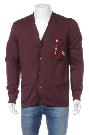 Мъжка жилетка Jack & Jones, Размер L, Цвят Червен, Памук, Цена 69,00лв.