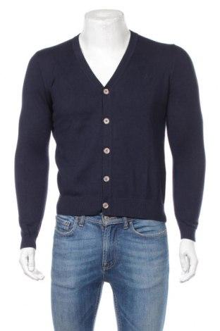 Мъжка жилетка Scalpers, Размер M, Цвят Син, 92% памук, 8% кашмир, Цена 119,00лв.