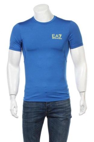 Męski T-shirt Emporio Armani, Rozmiar S, Kolor Niebieski, 80% poliester, 20% elastyna, Cena 225,75zł