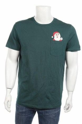 Мъжка тениска Originals By Jack & Jones, Размер L, Цвят Зелен, 100% памук, Цена 29,25лв.