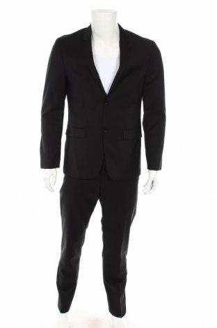 Ανδρικό κοστούμι Calvin Klein, Μέγεθος L, Χρώμα Μαύρο, 65% πολυεστέρας, 35% βαμβάκι, Τιμή 140,39€