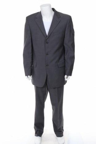 Ανδρικό κοστούμι Daniel Hechter, Μέγεθος XL, Χρώμα Γκρί, 100% μαλλί, Τιμή 53,84€