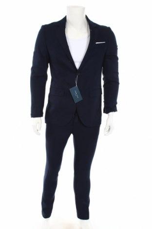 Ανδρικό κοστούμι Pier One, Μέγεθος M, Χρώμα Μπλέ, 75% πολυεστέρας, 25% βισκόζη, Τιμή 58,46€