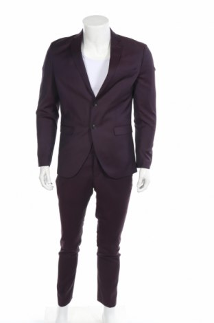 Ανδρικό κοστούμι Selected Homme, Μέγεθος M, Χρώμα Βιολετί, 52% πολυεστέρας, 26% μαλλί, 20% βισκόζη, 2% ελαστάνη, Τιμή 71,46€