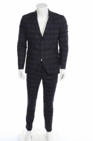 Ανδρικό κοστούμι Selected Homme, Μέγεθος M, Χρώμα Μπλέ, 59% μαλλί, 34% πολυεστέρας, 5% πολυαμίδη, 2% ελαστάνη, Τιμή 71,46€