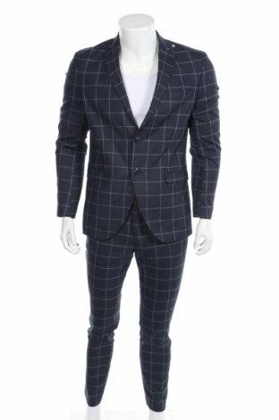 Ανδρικό κοστούμι Selected Homme, Μέγεθος M, Χρώμα Μπλέ, 51% πολυεστέρας, 28% μαλλί, 16% βισκόζη, 5% ελαστάνη, Τιμή 71,46€