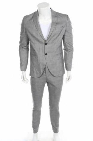 Ανδρικό κοστούμι Selected Homme, Μέγεθος M, Χρώμα Γκρί, 51% πολυεστέρας, 47% μαλλί, 2% ελαστάνη, Τιμή 71,46€