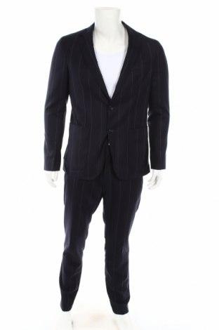 Мъжки костюм Tommy Hilfiger, Размер L, Цвят Син, 63% вискоза, 19% памук, 18% модал, Цена 251,40лв.
