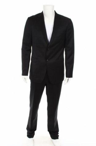 Ανδρικό κοστούμι Z Zegna, Μέγεθος L, Χρώμα Μαύρο, 74% μαλλί, 16% μοχαίρ, Τιμή 397,33€