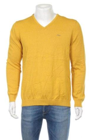 Pánsky sveter  S.Oliver, Veľkosť L, Farba Žltá, Bavlna, Cena  32,99€