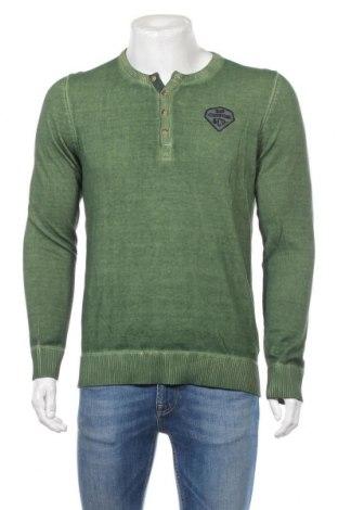 Pánsky sveter  S.Oliver, Veľkosť M, Farba Zelená, Bavlna, Cena  32,99€