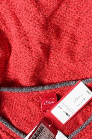 Мъжки пуловер S.Oliver, Размер L, Цвят Червен, 86% памук, 14% полиестер, Цена 51,75лв.
