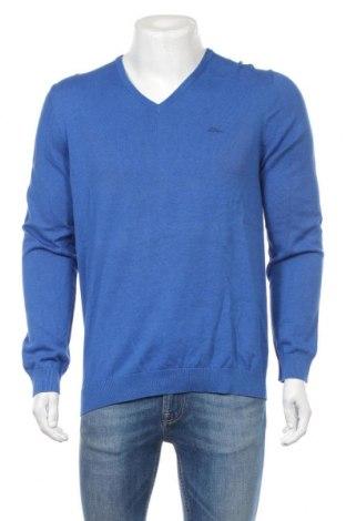 Pánsky sveter  S.Oliver, Veľkosť L, Farba Modrá, Bavlna, Cena  32,99€