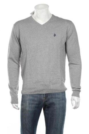 Męski sweter U.S. Polo Assn., Rozmiar XL, Kolor Szary, 90% bawełna, 10% kaszmir, Cena 322,50zł