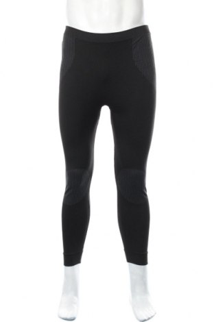 Męskie legginsy sportowe, Rozmiar L, Kolor Czarny, 70% poliester, 24% poliester, 6% elastyna, Cena 35,10zł