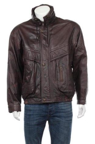 Мъжко кожено яке, Размер L, Цвят Кафяв, Естествена кожа, Цена 23,56лв.