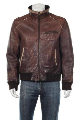 Pánska kožená bunda  Boss Orange, Veľkosť L, Farba Hnedá, Pravá koža , Cena  87,27€