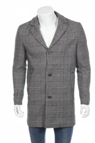 Męski płaszcz Jack & Jones, Rozmiar S, Kolor Czarny, 75% poliester, 20% wełna, 5% inny materiał, Cena 372,50zł