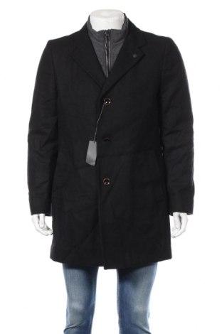Męski płaszcz S.Oliver, Rozmiar L, Kolor Czarny, 60% wełna, 30% poliester, 5%akryl, 5% poliamid, Cena 465,00zł