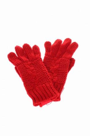 Ръкавици S.Oliver, Цвят Червен, Полиакрил, Цена 39,00лв.