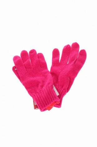 Ръкавици S.Oliver, Цвят Розов, 40% модал, 35% полиамид, 25% памук, Цена 24,57лв.