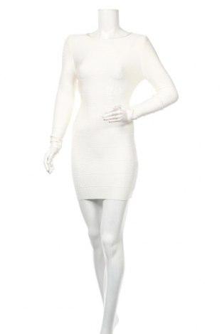 Рокля Herve Leger, Размер S, Цвят Бял, 90% вискоза, 9% полиамид, 1% еластан, Цена 649,02лв.