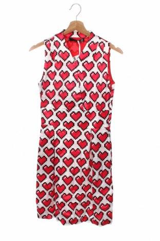 Рокля Love Moschino, Размер XS, Цвят Многоцветен, Вискоза, Цена 150,22лв.