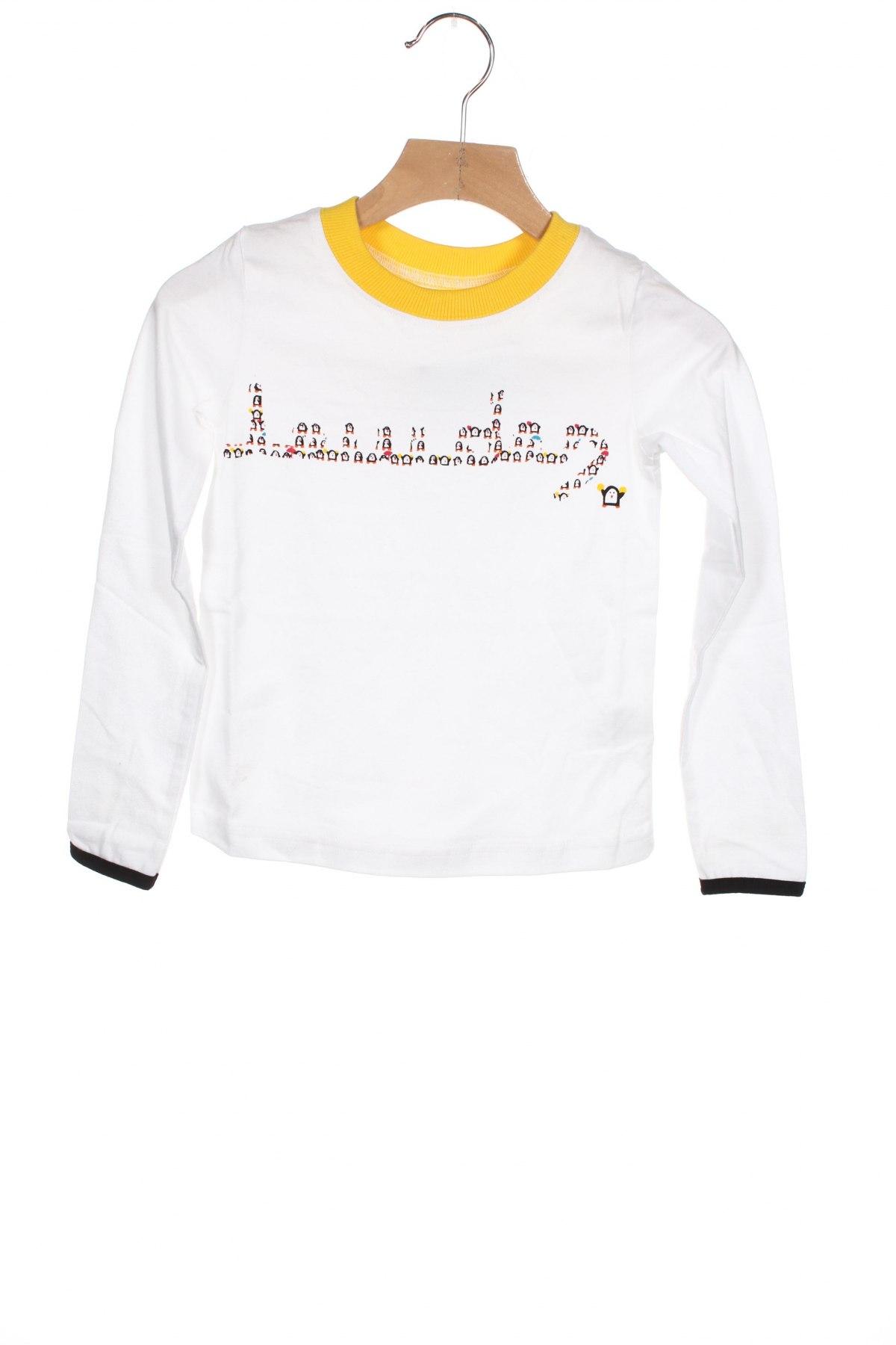 Детска блуза, Размер 4-5y/ 110-116 см, Цвят Бял, 95% памук, 5% еластан, Цена 22,40лв.