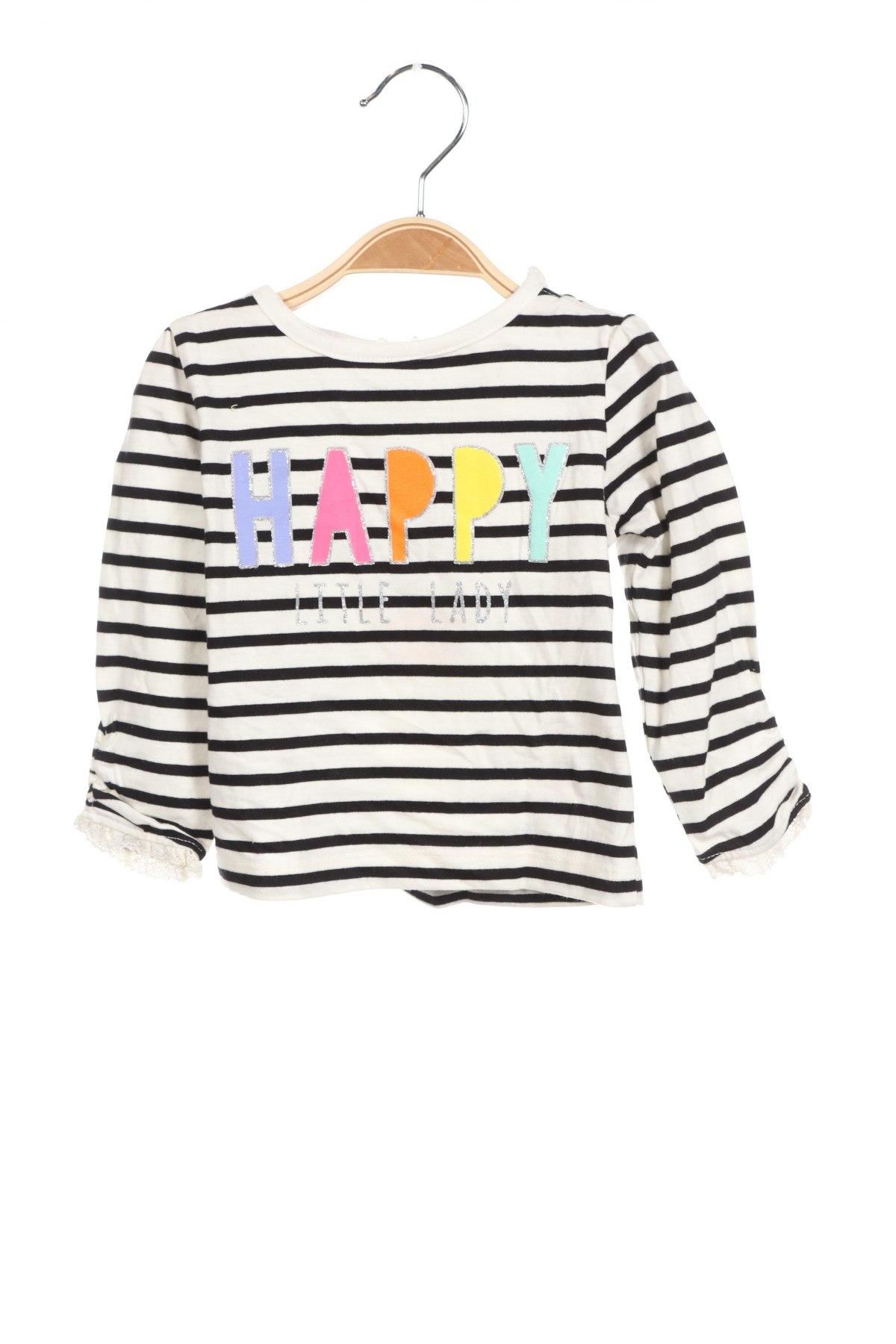 Детска блуза Crafted, Размер 6-9m/ 68-74 см, Цвят Черен, 100% памук, Цена 22,75лв.