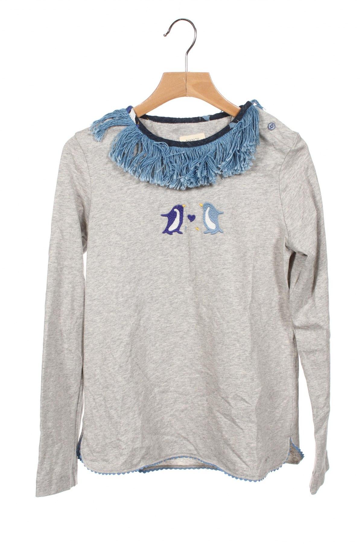 Детска блуза Nanos, Размер 11-12y/ 152-158 см, Цвят Сив, Памук, Цена 49,77лв.