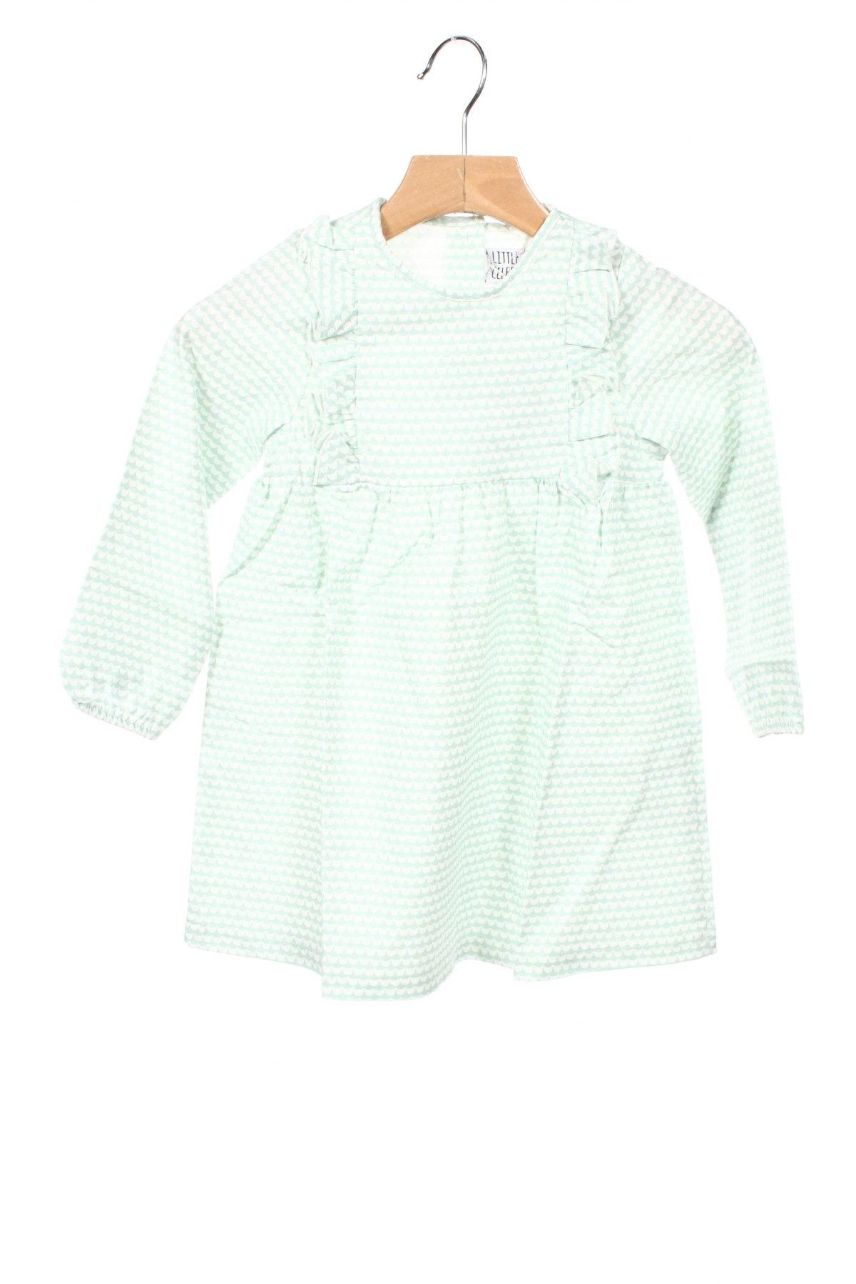 Детска рокля Little Celebs, Размер 18-24m/ 86-98 см, Цвят Зелен, Памук, Цена 32,20лв.
