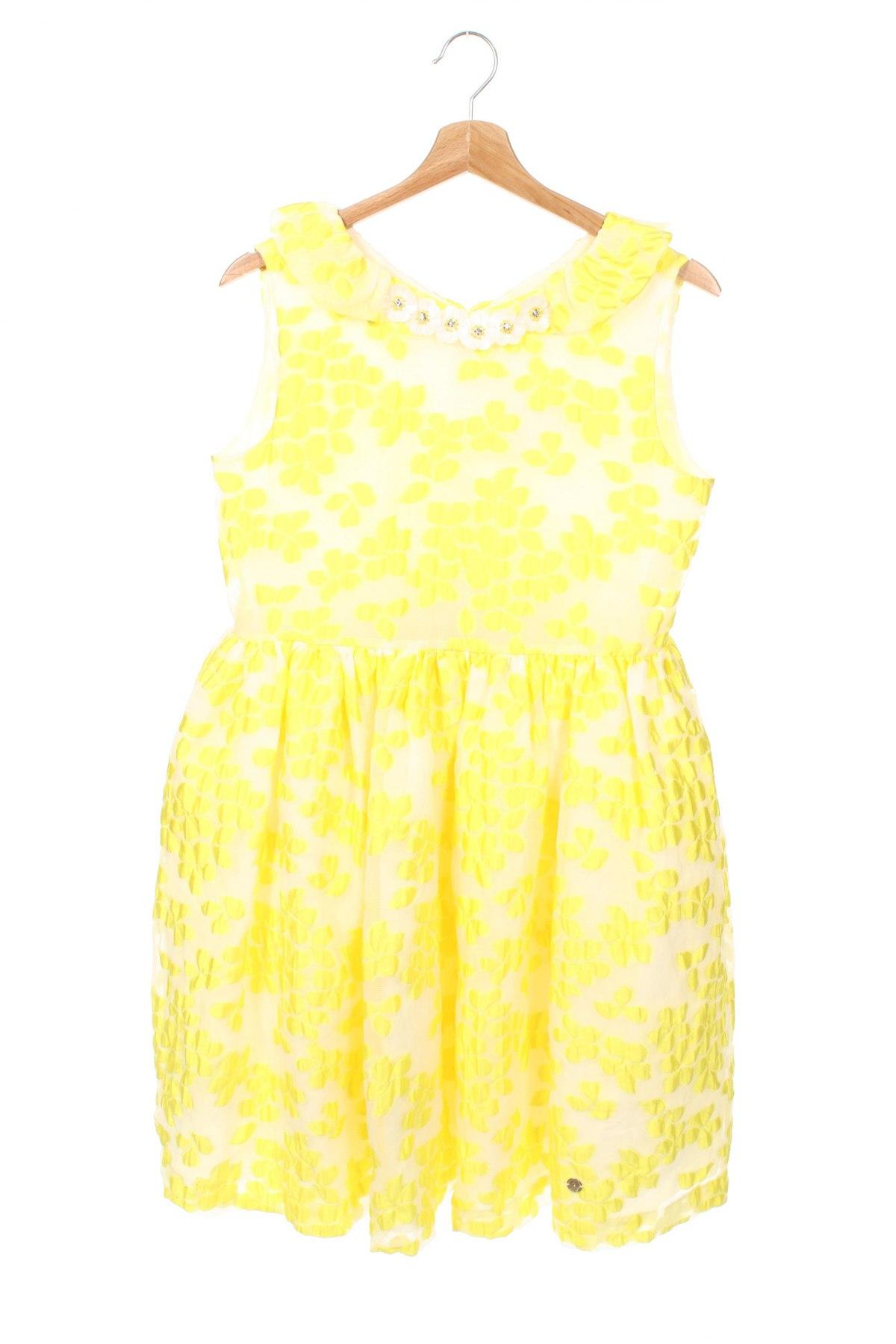 Детска рокля Pili Carrera, Размер 11-12y/ 152-158 см, Цвят Жълт, 72% полиестер, 28% полиамид, Цена 69,02лв.
