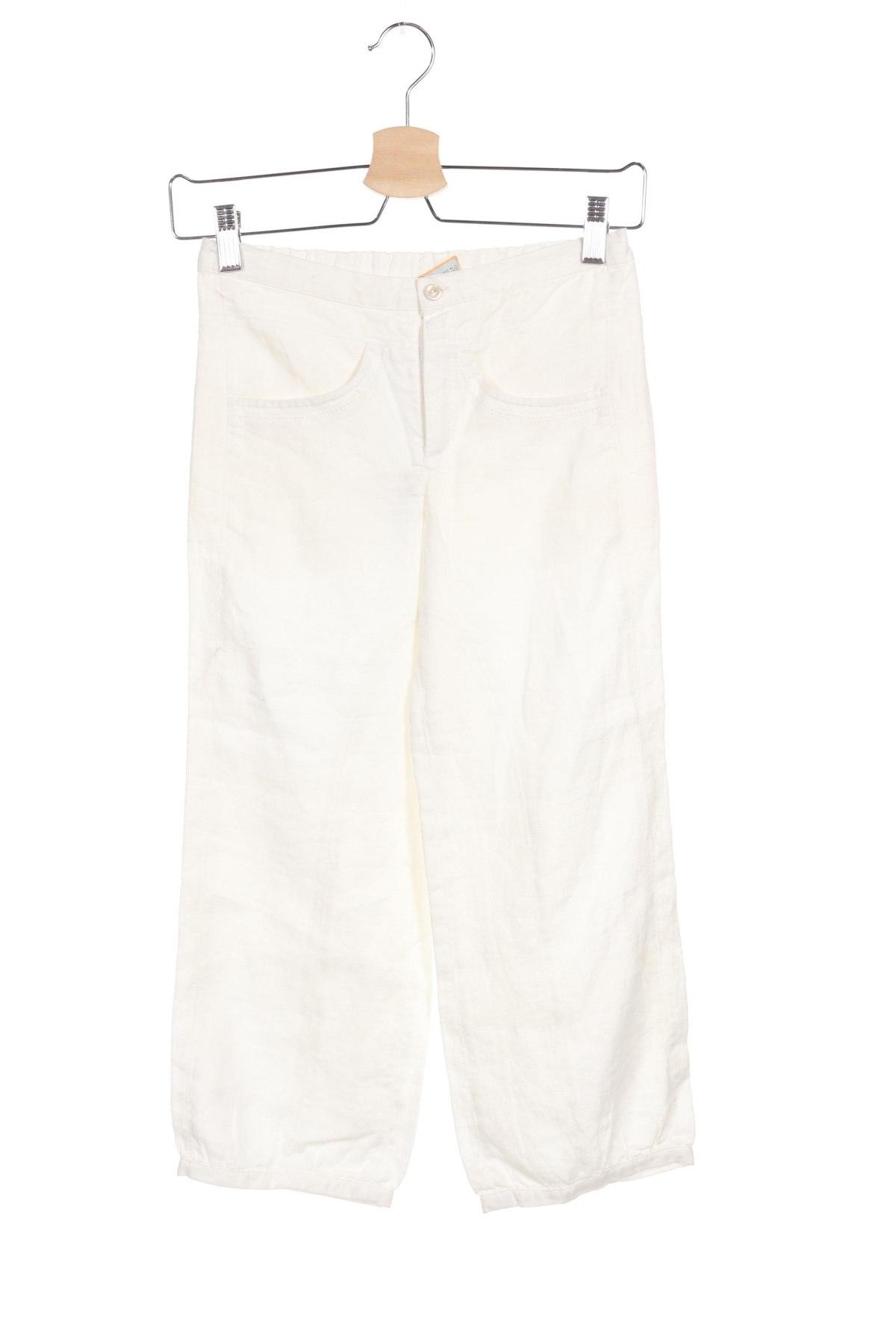 Детски панталон Noa Noa, Размер 9-10y/ 140-146 см, Цвят Бял, Лен, Цена 5,00лв.
